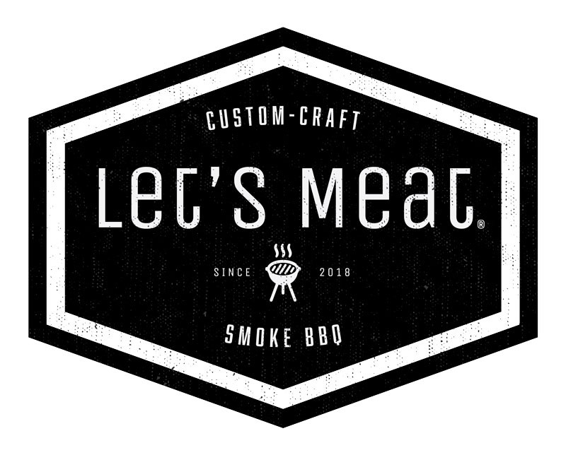 Let's Meat, logo.