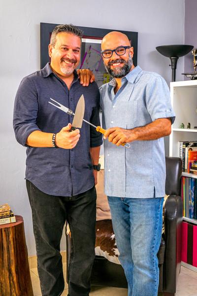 Osvaldo Perez y Finees Almenas, de Lets Meat.