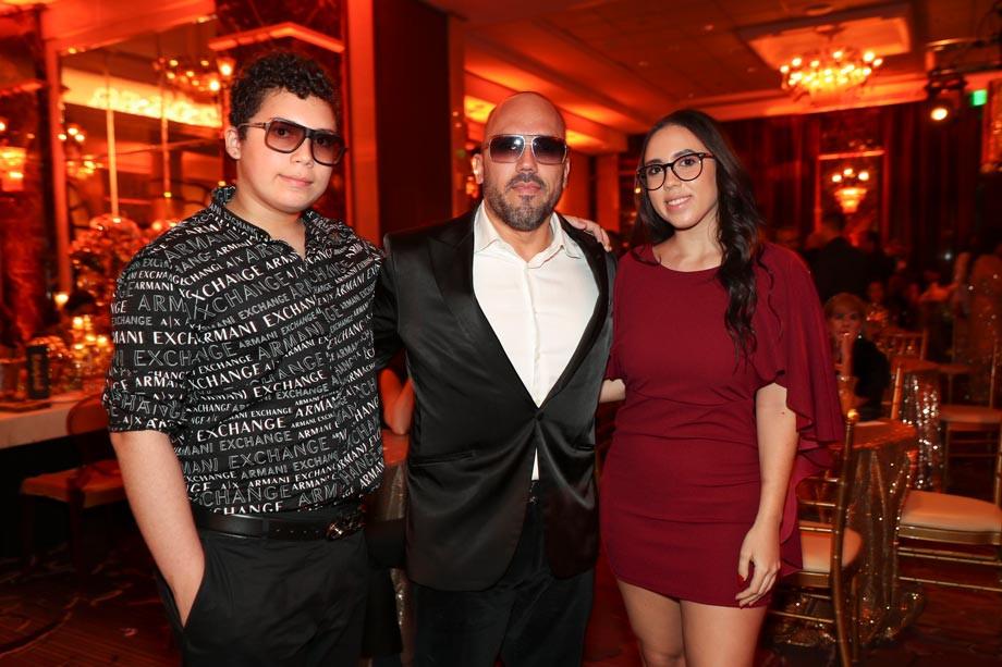 Sebastián, Walter y Gabriela Otero