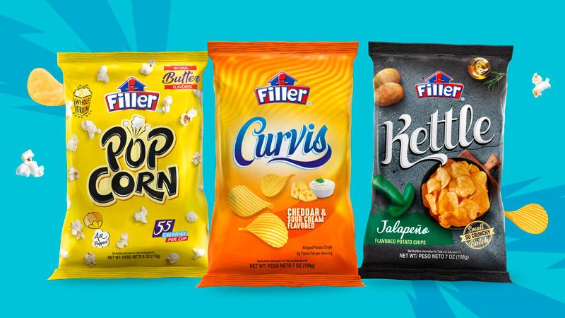 Filler presenta nuevas líneas Curvis, Kettle y Popcorn