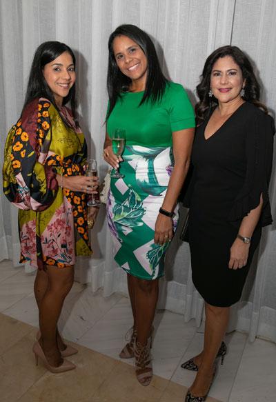 Cecilia Torres, Nayda Navarro y Nereida Amador.