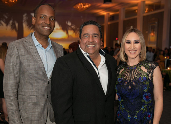 Julio Rivera Saniel, Luis Rivera y Milly Mendez.