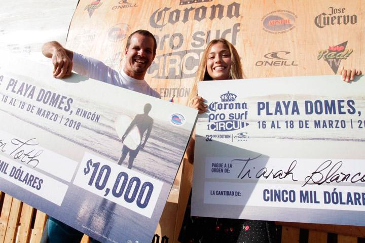Brian Toth & Tiarah Blanco  - Recibiendo sus Premios