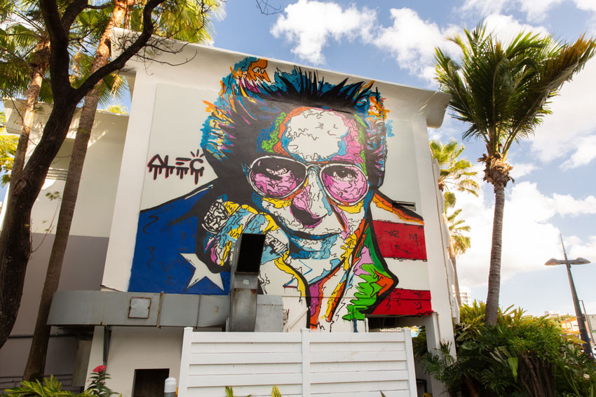 Mural Héctor Lavoe por Alec Monopoly