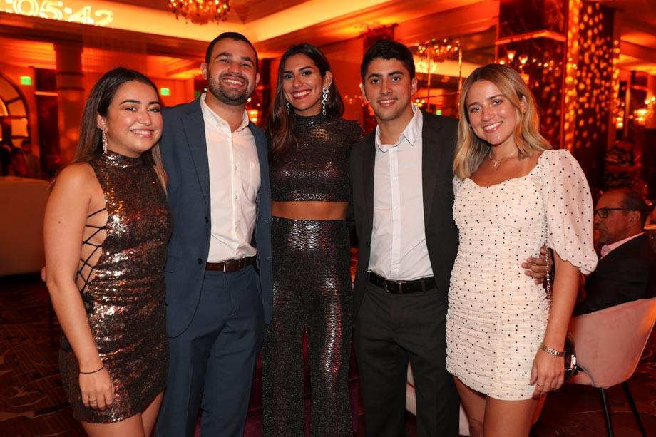 Laura Díaz, Julián Sucre, Kiara Goas, Adrián Agostini y Verónica Meléndez
