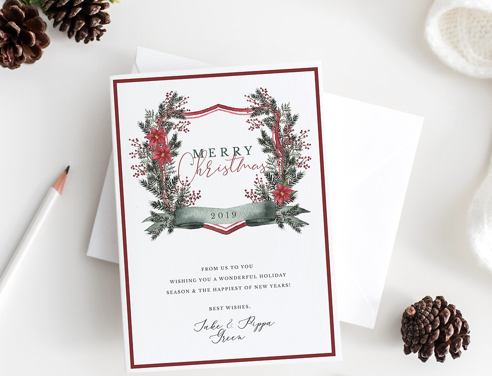 Personalized Merry Christmas cards with photo