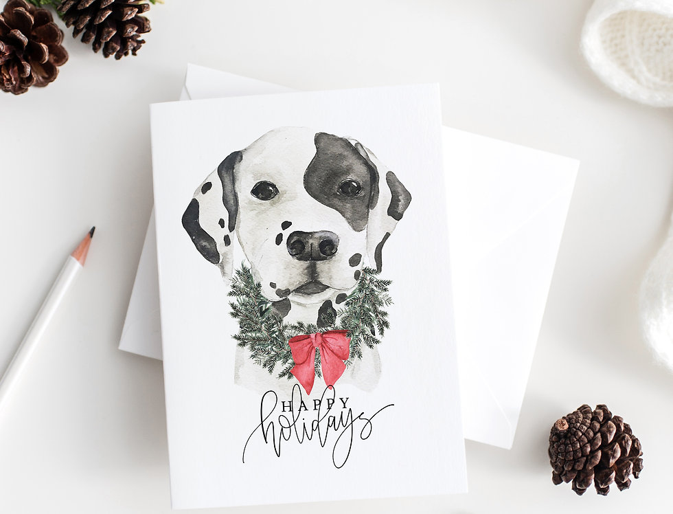 Christmas pup greeting card set