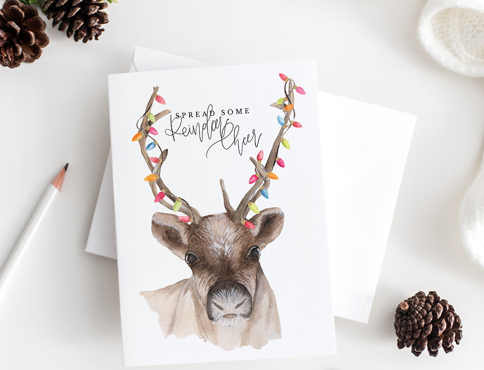 spread some Reindeer Cheer greeting card set