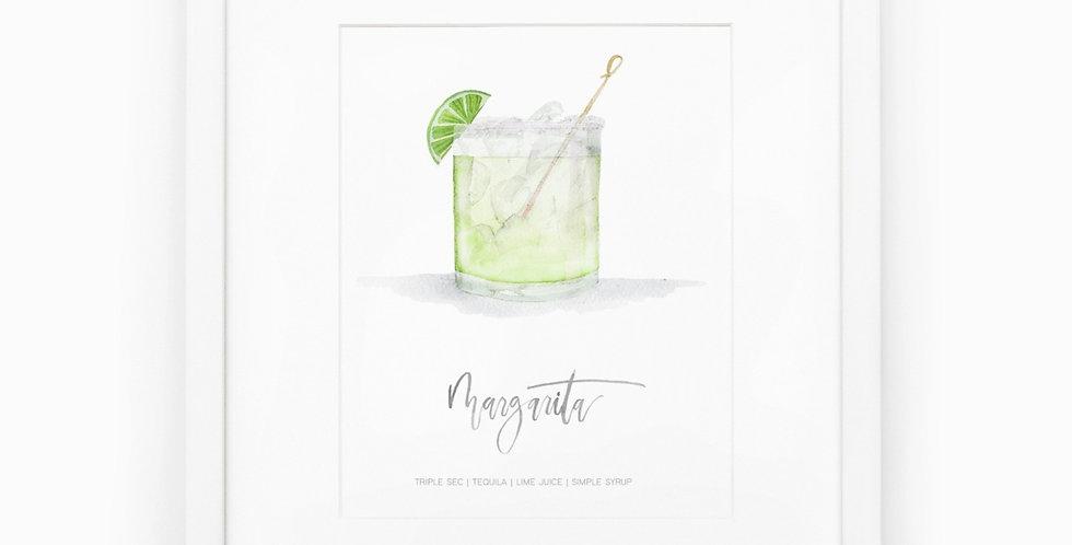 Margarita Watercolor Print