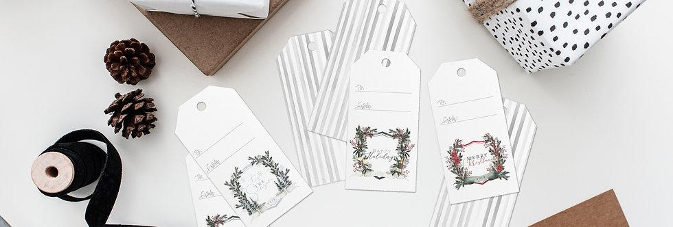 Christmas Crest gift tag set