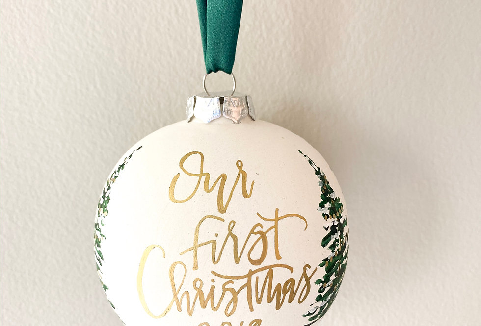 Snowy Tree Personalized Ornament