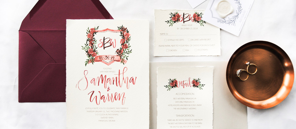 6 Ways to incorporate your custom watercolor wedding crest throughout your day