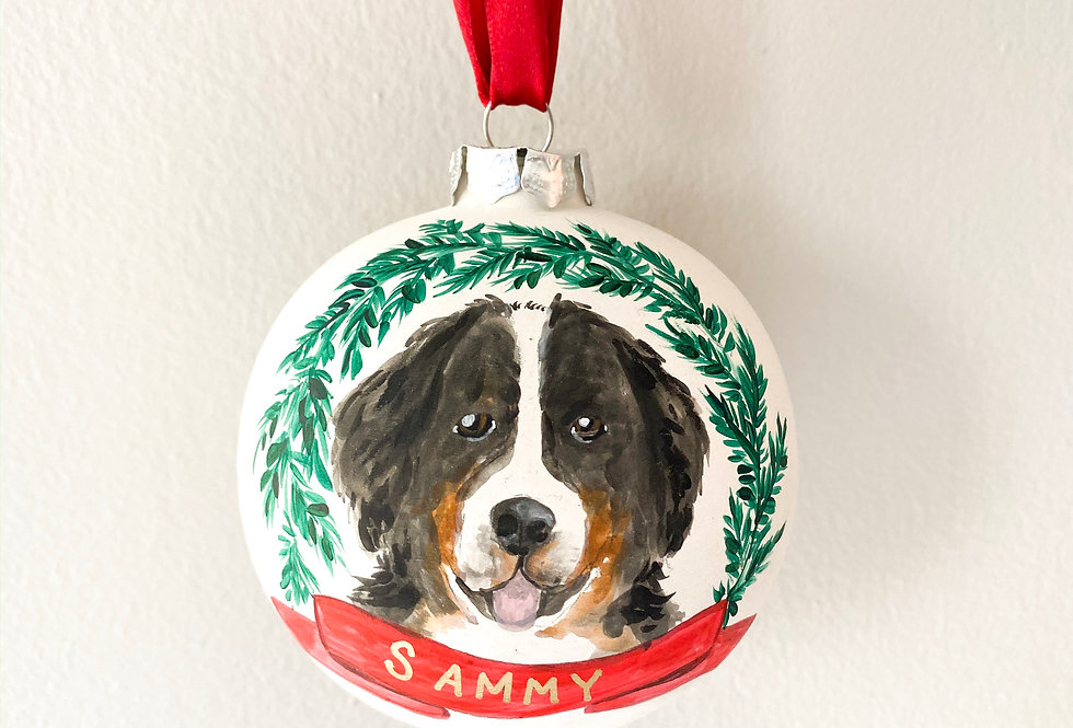 Custom Ornament with pet or home painting