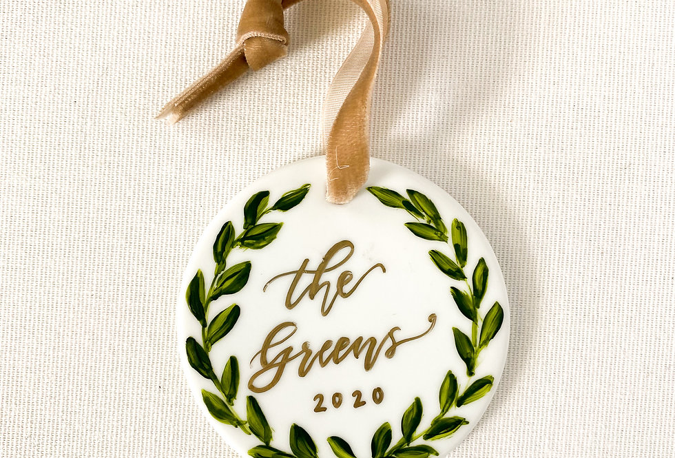 Custom Wreath Ornament