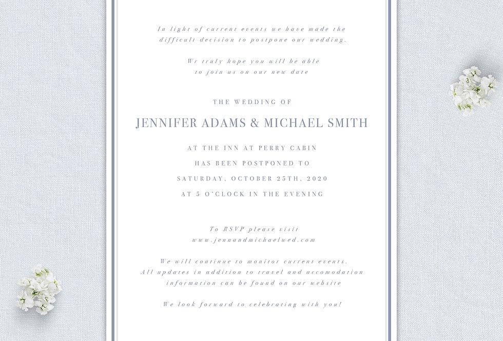 Wedding Postponement Announcement - Printed