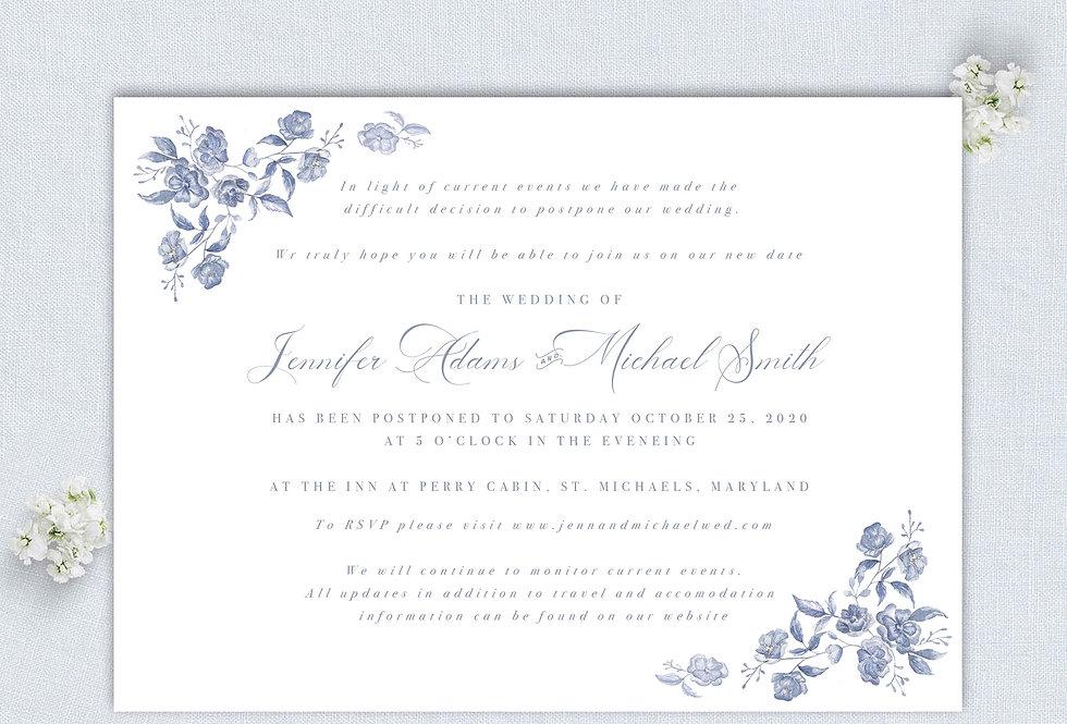 Floral Wedding Postponement Announcement - Digital Download