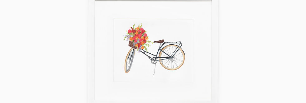Bicycle Watercolor Print