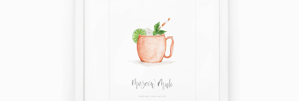 Moscow Mule Watercolor Print