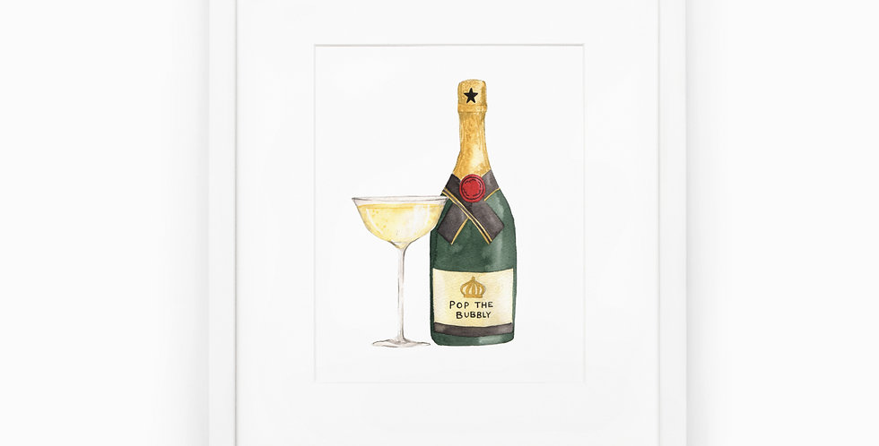 Pop the Bubbly Art Print