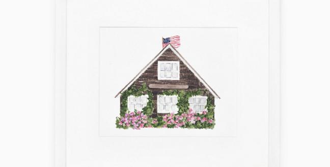 Nantucket Cottage 2 Art Print