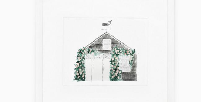 Nantucket Cottage 1 Art Print