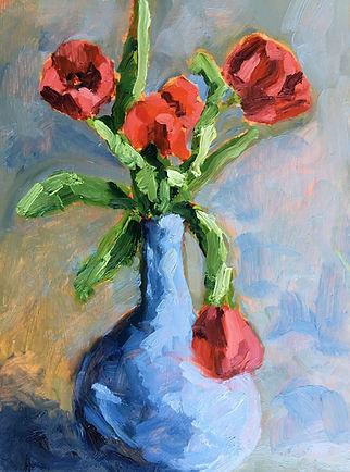 Stilllife Red Tulips 8 x 10