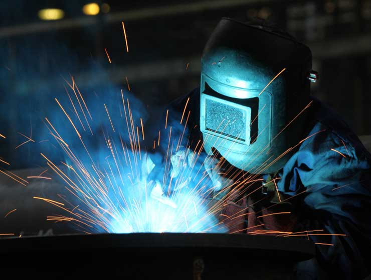 Welding a stainless steel casting per the ASME Sect. IX code.