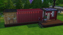 Red Tiny home Concept
