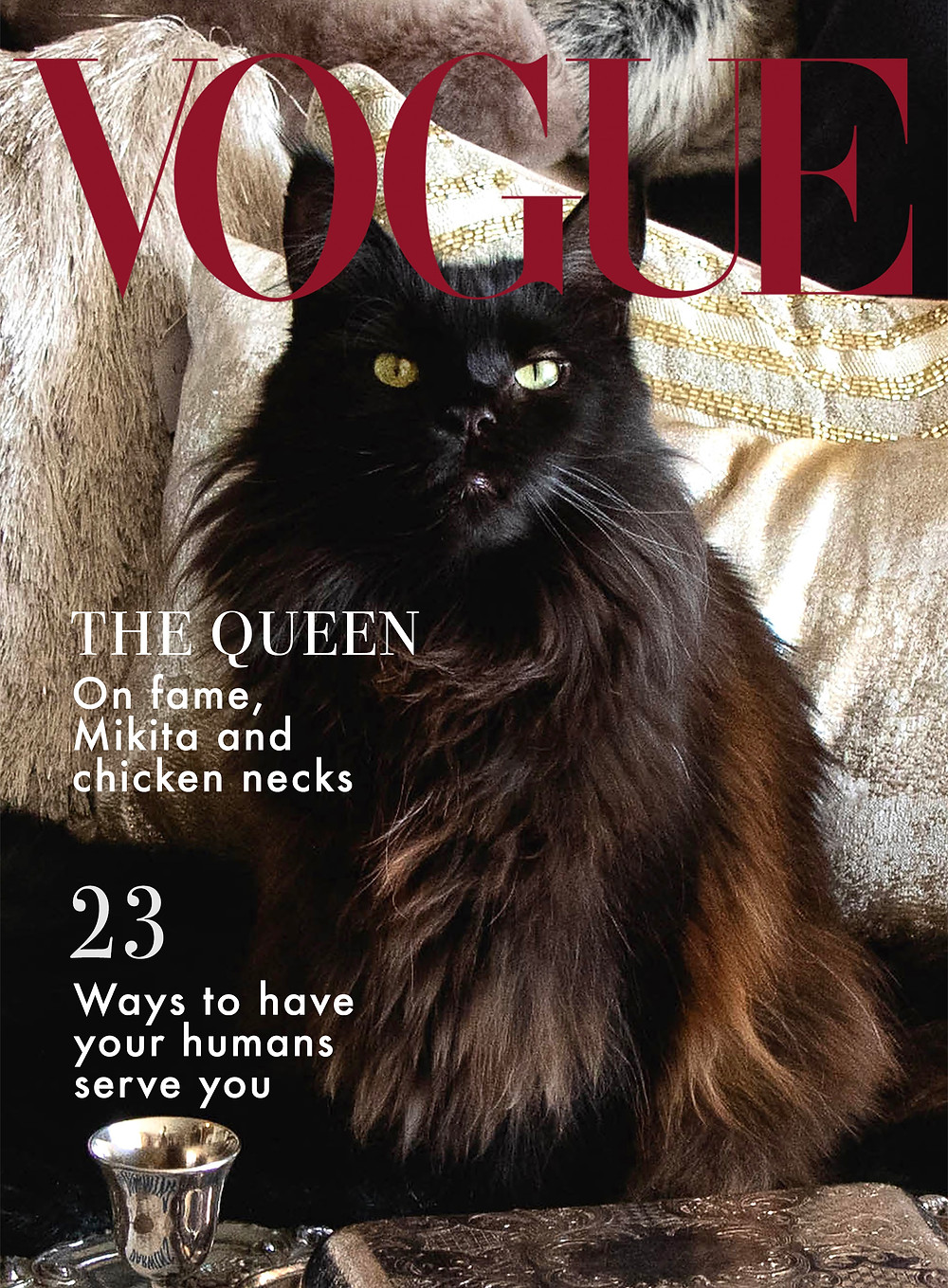 Dahlia's Vogue cover 3 from Chicago Black Cat