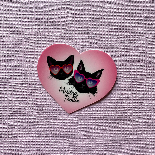 "2"" Mikita + Dahlia Valentine Sticker"