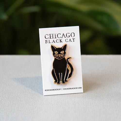 Mikita Black Cat Pin
