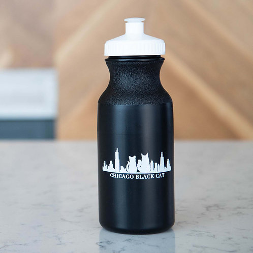 Chicago Black Cat Water Bottle
