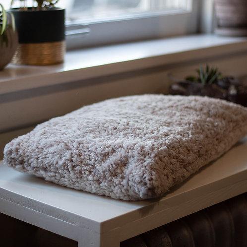 White and Tan Window Seat Cushion