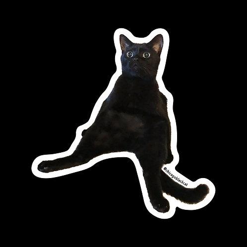 "3"" Mikita Sitting Sticker"