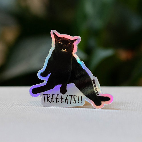 "2"" Mikita Treeeats!! Holographic Sticker"