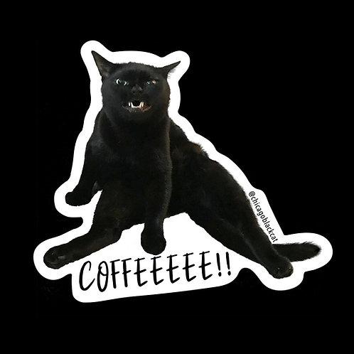 "3"" Mikita COFFEEEE!! Sticker"