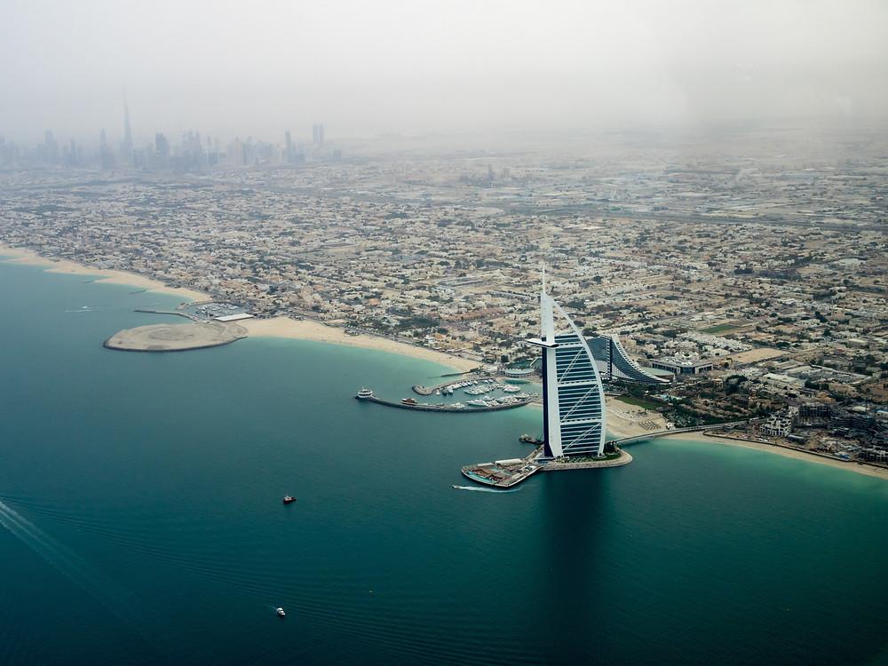 Вид на пляжи Дубая