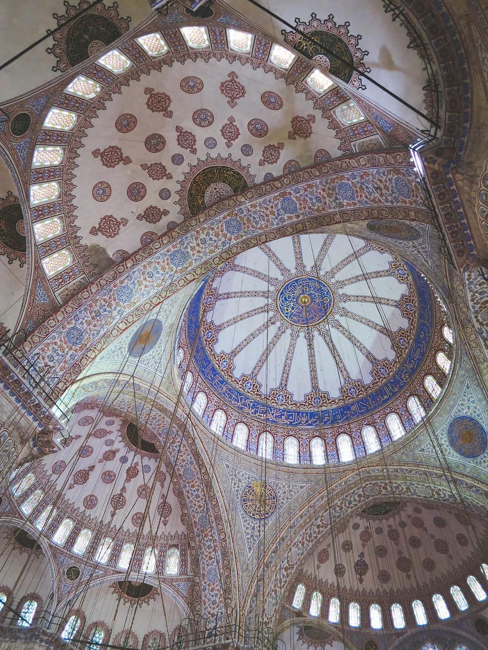 Внутренняя отделка мечети Султанахмет