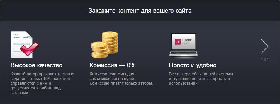 Преимущества для заказчиков биржи Турботекст