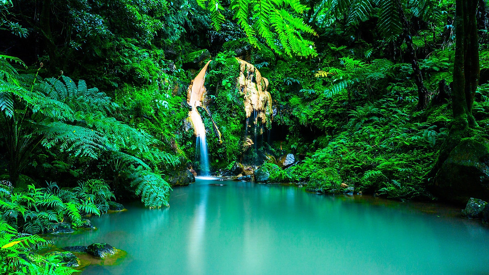Водопад на Азорских островах