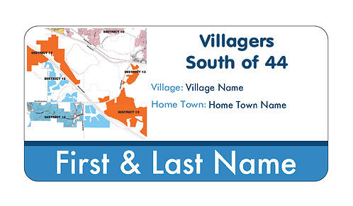 Villagers South of 44 Name Tag