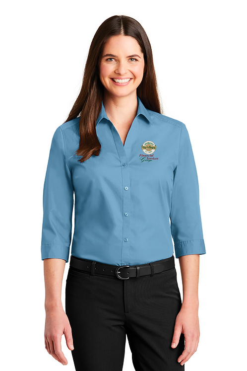 Ladies 3/4 Button Shirt