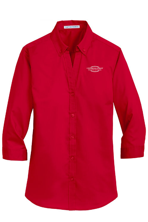 Ladies 3/4-Sleeve Twill Shirt