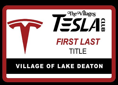 Tesla Club Name Tags