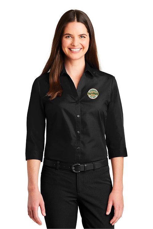 Ladies 3/4 Button Shirt