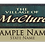Thumbnail: Village of McClure Name Tag