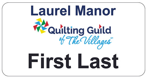Quilting Guild Name Tag