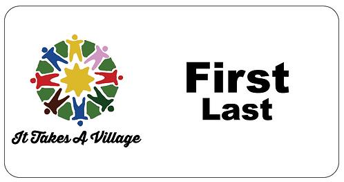 It Takes a Village Name Tag