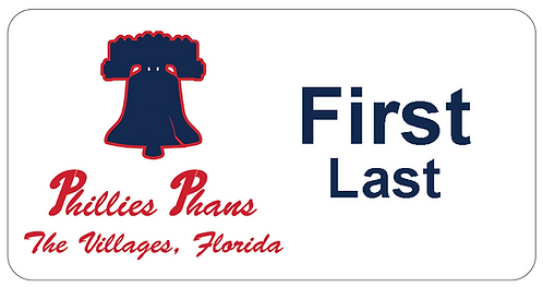 Phillies Phans Name Tag