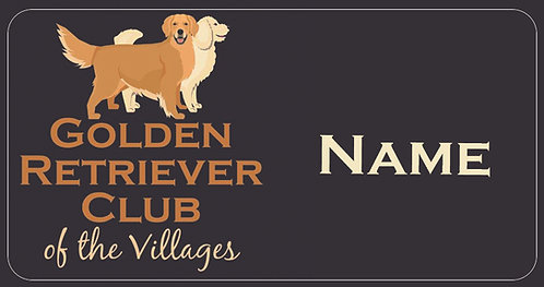 Golden Retriever Name Tag
